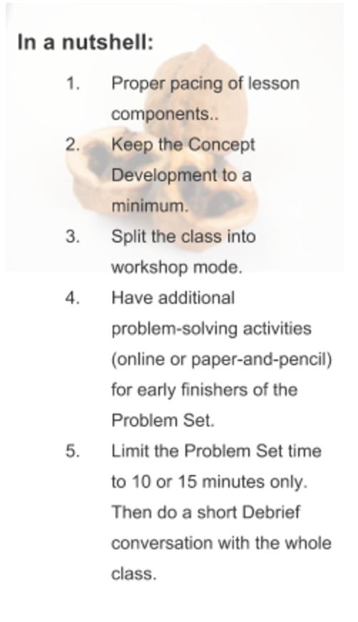 Eureka Math More Advice On How To Pace Eureka Math To Meet The