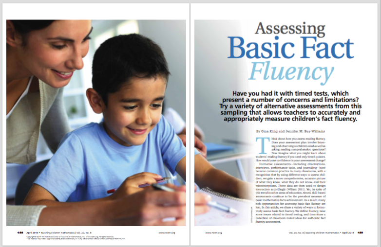 assessing fact fluency