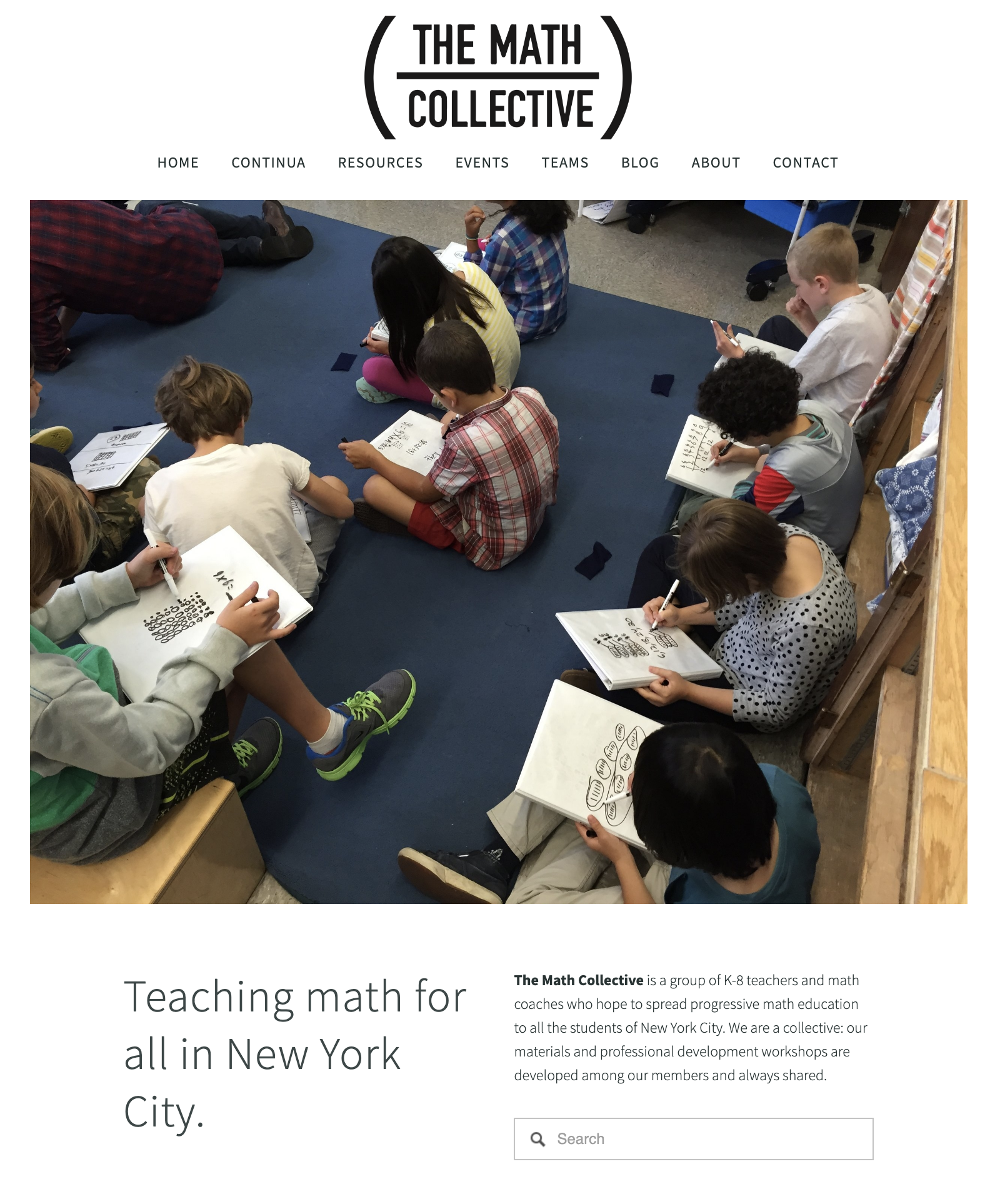 math collective web page